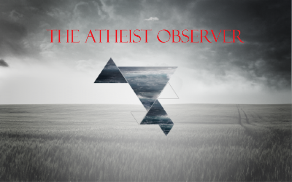 The Atheist Observer Image with Red Title Text - Ungrouped